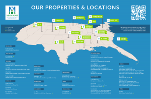 Vista Host Properties and Location maps